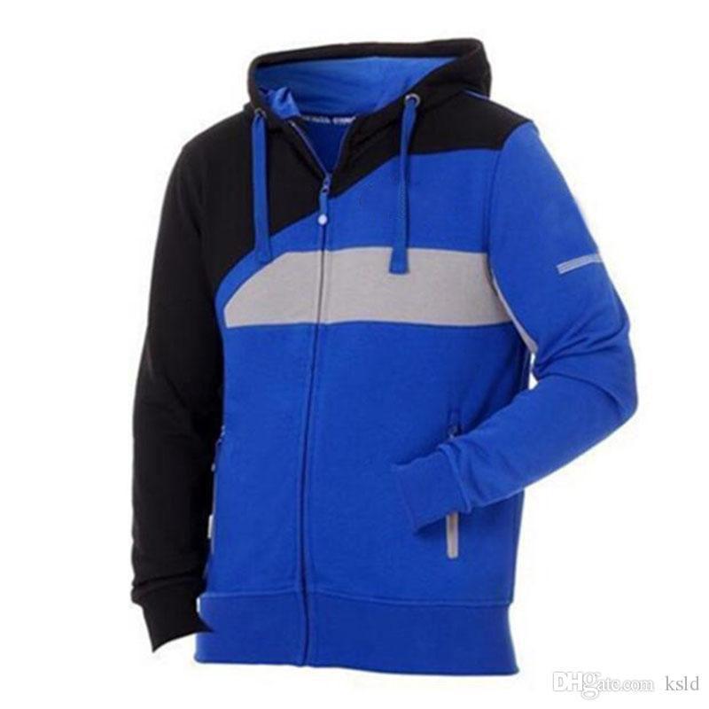 Jaqueta de algodão com zíper masculino moda moodies para fábrica esporte montanhoso moletom casaco de motocross à prova de vento