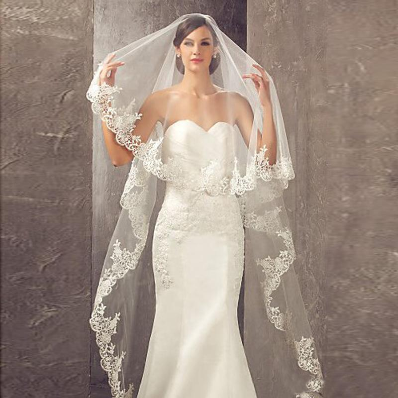 2020 Best Selling 3 Meters Long Cheapest Chapel Length White Ivory Bridal Veils with Comb Veu De Noiva Longo Wedding Veil CPA859