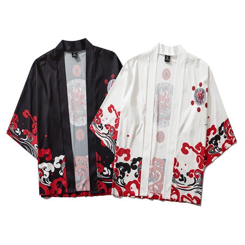 Camicie casual da uomo estate giapponese a cinque punti maniche a cinque punti kimono mens e donna con mantello jacke top etnico tradizionale unisex sottile camicetta allentata