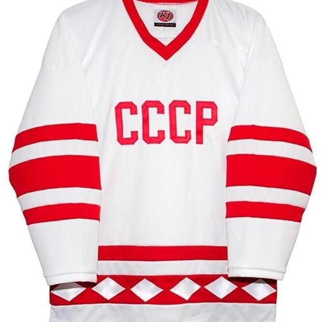 Rera Erkekler Gerçek Tam Nakış Rus 1980 CCCP Hokey Beyaz Jersey 100% Nakış Forması veya Özel Herhangi Bir Adı veya Numarası Jersey
