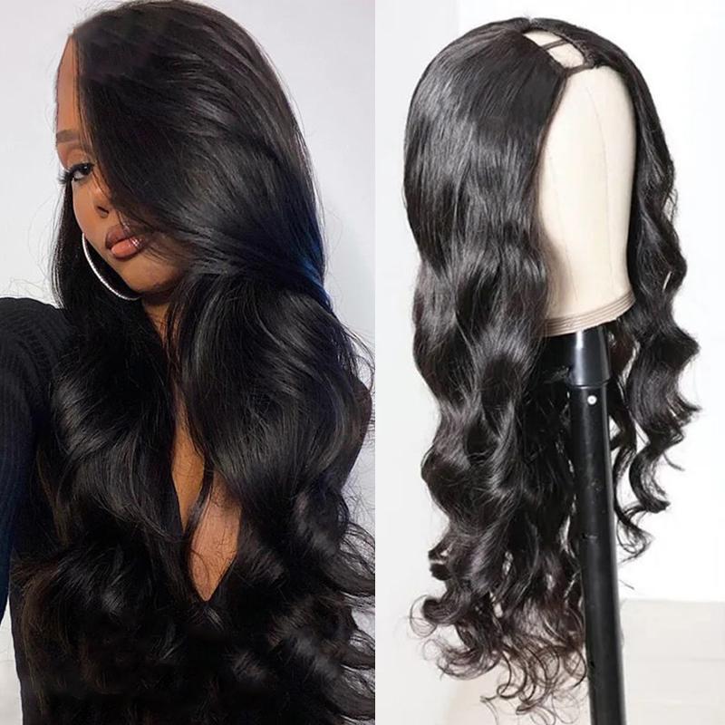 غاجيكوين البرازيلي الجسم موجة ش جزء شعر مستعار 150٪ الكثافة البرازيلي الشعر البشري الباروكات الطبيعة