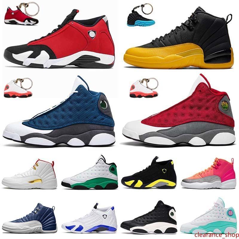 JUMPMAN Nuevos 12s calidad Juego de la gripe para hombre de los zapatos de baloncesto gimnasio 14s 13s Red Flint Universidad ponche caliente azul Soar Formadores verde Mujeres al aire libre
