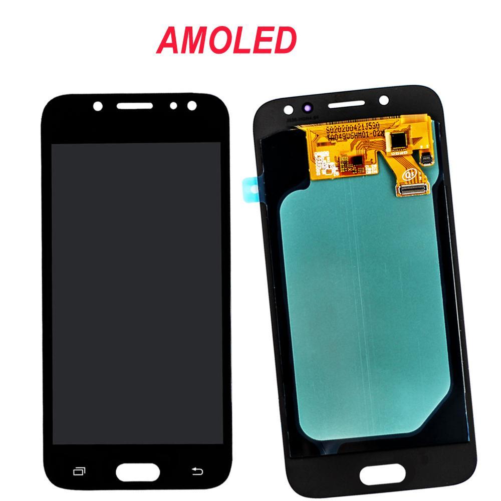 SAMSUNG J5 Pro 2017 J530 Ekran Yedek İçin SAMSUNG Galaxy J5 2017 J530 J530F LCD Dokunmatik Ekran Super AMOLED LCD