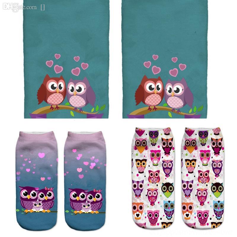 YH7GO Mode Smelly Socke Mann Winter Boden Socken Eule Homewear Verdickt gegen Wollsocken Outdoor Kaltarm Tierdruck