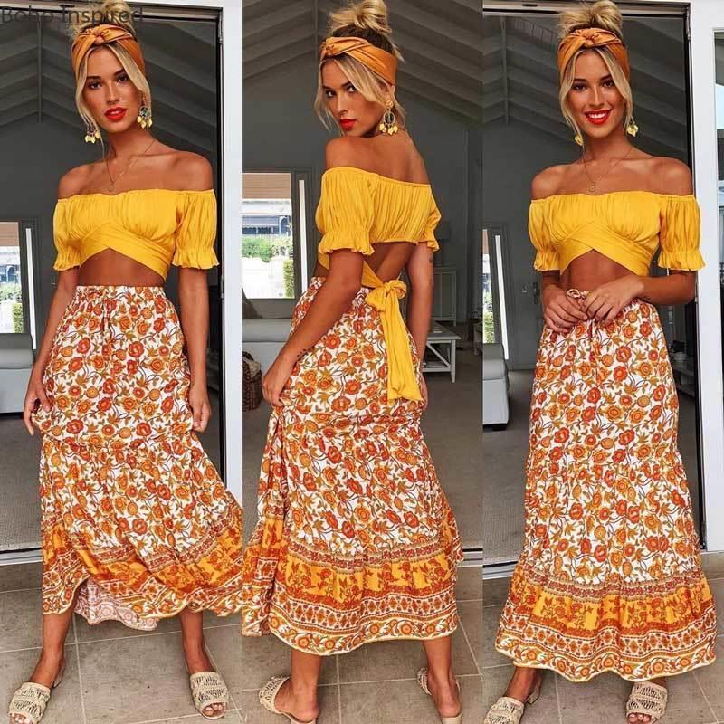 bloco de cor longa saias mulheres elástica slit lateral casual saia de verão rayon saia boutique mulheres roupas