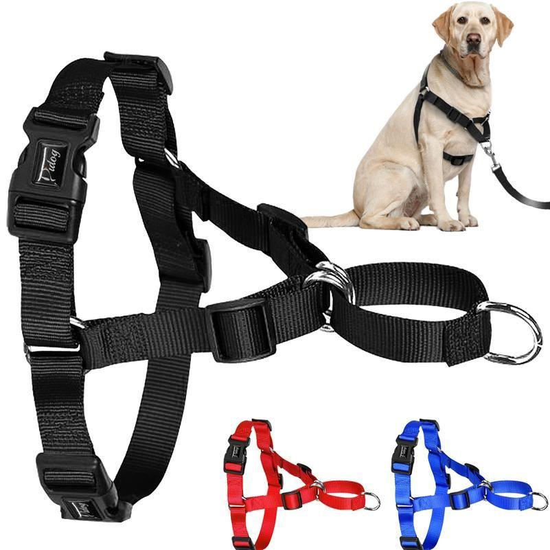 Nessuna tiro in nylon cane cablaggio regolabile per cani da cane gilet per cani medio grandi pitbull bulldog tedesco pastore s- wmtsbz