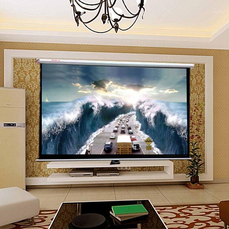 16: 9 120 дюймов проектор HD экран Canva передний домашний кинотеатр проекционный экран фильма проектор высокая яркость складной1