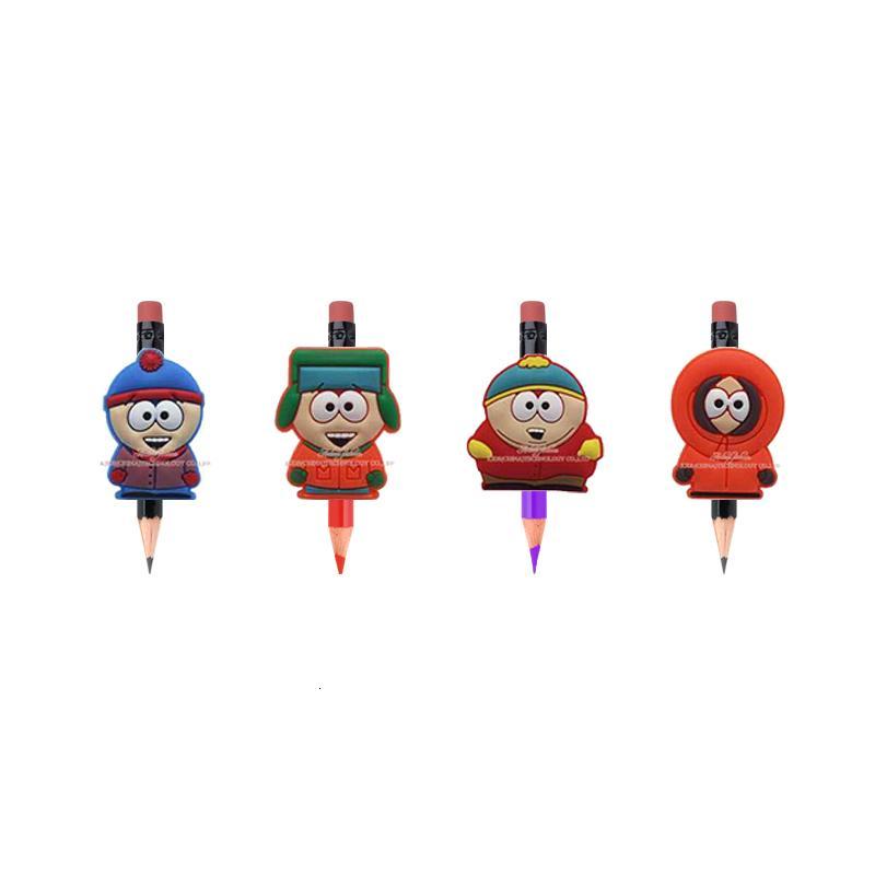 Livraison gratuite South Park Cartoon caractère créatif Crayon Topper Stylos papeterie Enfants Cadeaux Accessoires Pvc souvenir