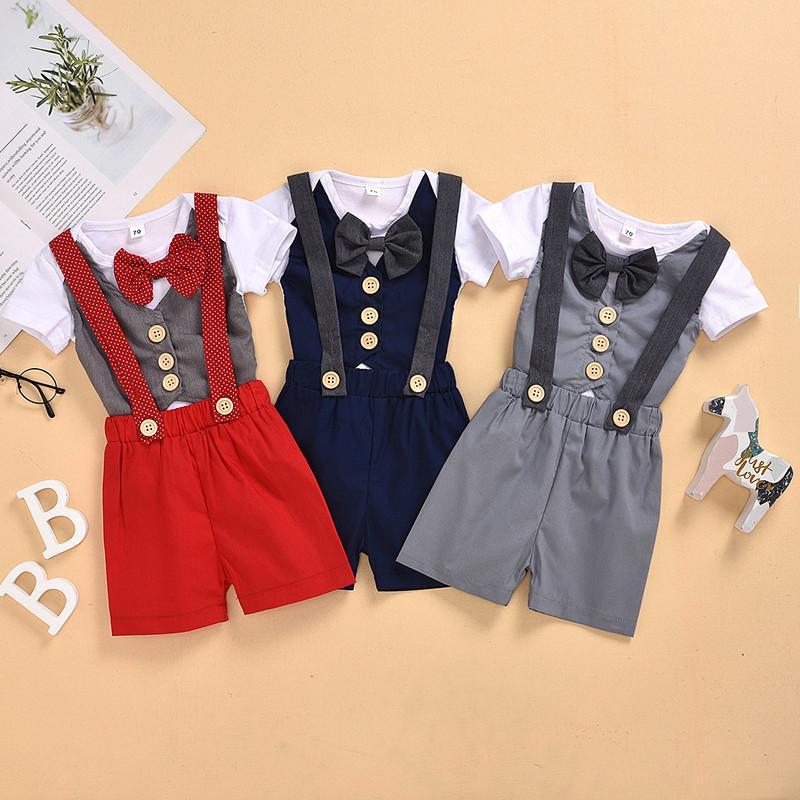 طفل رضيع الملبس مجموعة رومبير الحمالة السراويل الملابس الصيف بالجملة بوتيك الزي الملابس كيد رومبير مع القوس التعادل الملابس