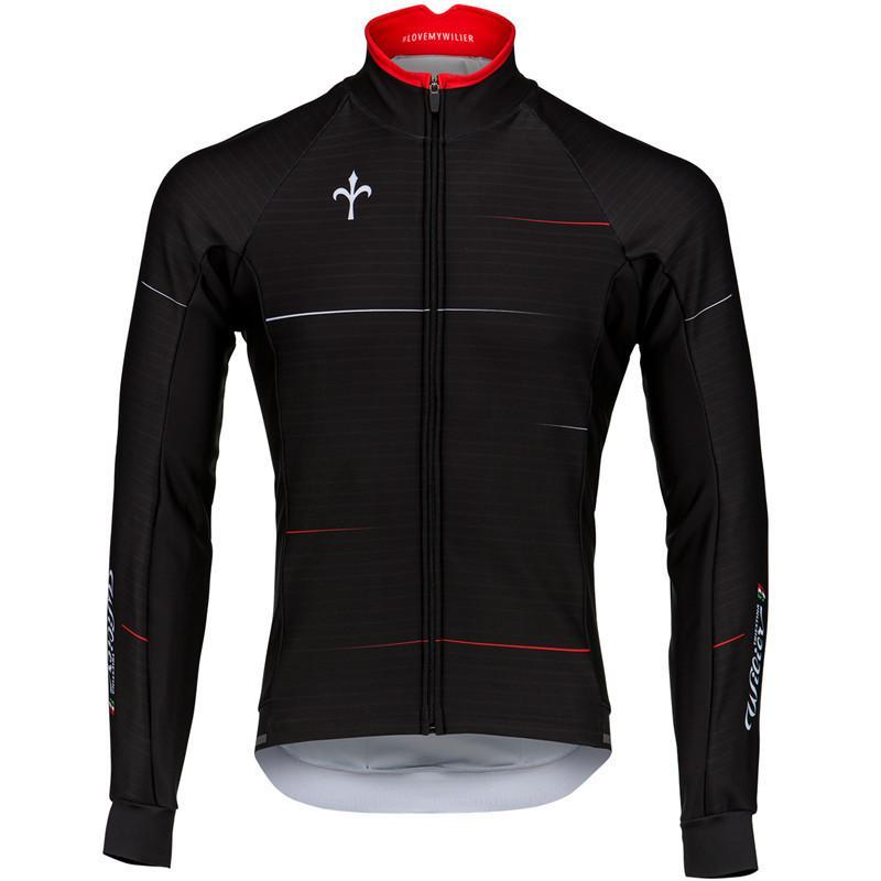 Vêtements à vélo Wilier Hiver manches longues Veste en polaire Bib PantsRropa de ciclismo Hombre Pro Team Jersey Vêtements de vélo MTB C0123