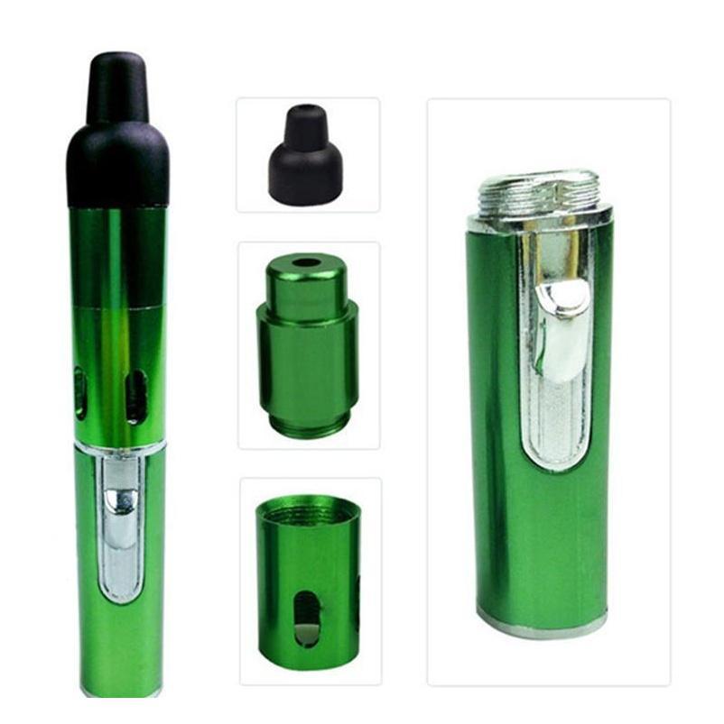 Wholesale Click N Vape Sneak A Vape Sneak A Toke Smoking Metal Pipe Vaporizer Tobacco Wind Proof Torch Lighter Multi C jllnET mx_home