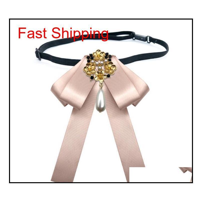 Toptan Sıcak Satış Papyon Vintage Cameo Lady Başkanı Diamod Şerit Püskül Broş Chic Kızlar Zarif Kostüm J Qylrih DH_Slerler2010