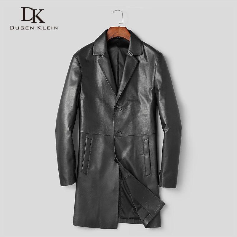 Мужская куртка из натуральной кожи коровы кожаного костюма пальто Long New Designer X88002