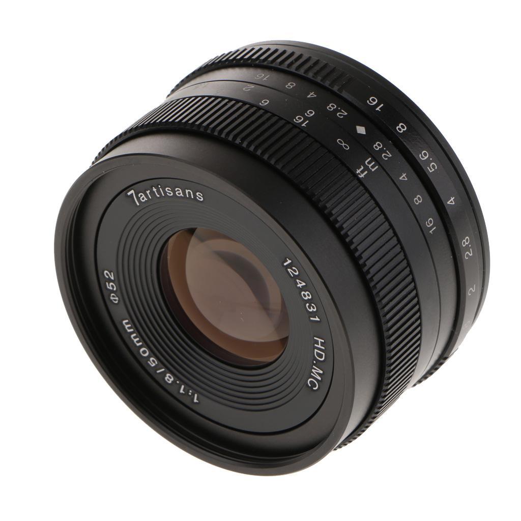 50mm F / 1.8 Prime Lens Большой ручной фокусировки объектива для