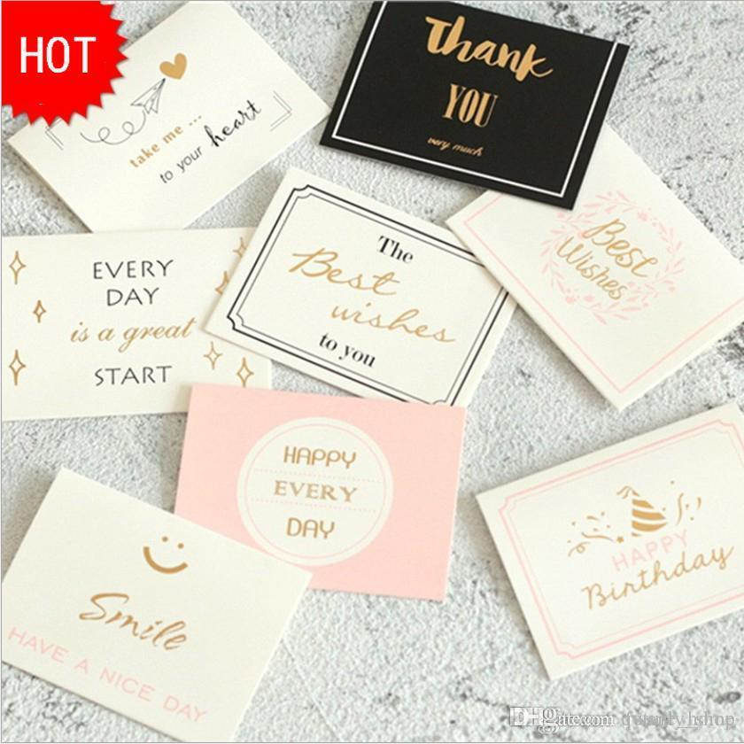 8 Styles THANK YOU Paper Cards Birthday Party Decorations Christmas Supplies Favors Invitation Greeting Cards 10*7.5cm