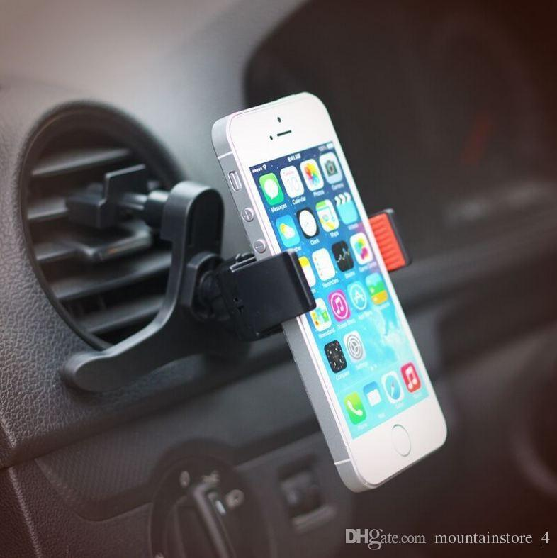 Universal Car Holder For Iphone Samsung Mobile Cell Phone 360 Degrees Flexible Air Vent Mount Holder Soporte Movil Car Gps (Retail )
