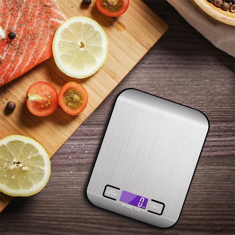 5000G / 1G LED Electronic Numérique Cuisine Balances Multifonction Food Balance En Acier Inoxydable LCD Preçage Bijoux Poids Balan 10 L2