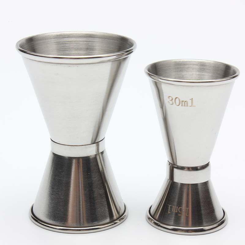 قياس مزدوجة من جانب كأس كوكتيل الخمور بار قياس الكؤوس الفولاذ المقاوم للصدأ الوالج نادل شرب الخمور خلاط قياس كأس DHF2739