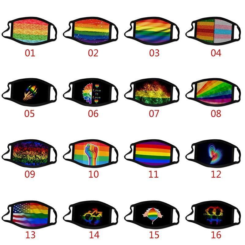 Маска для пылезащитный цвет WX20-39 Маска для печати Корабль Код Полиэстер Ледяной гей Дизайн JGGK DHL 3D Моющаяся защитная Лицо LGBT DU LGBT Tabric LSKX MJHS