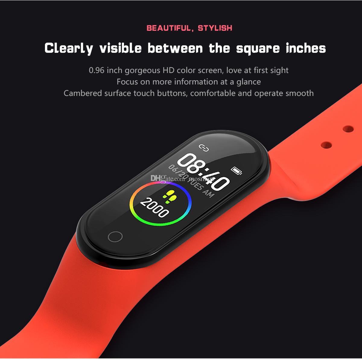 2021 nuovissimo smart Fitbit Bracciale MSM004 impermeabile Smartwacth per le donne e Screen uomini di tocco di colore PK Xiaomi Huawei Guarda