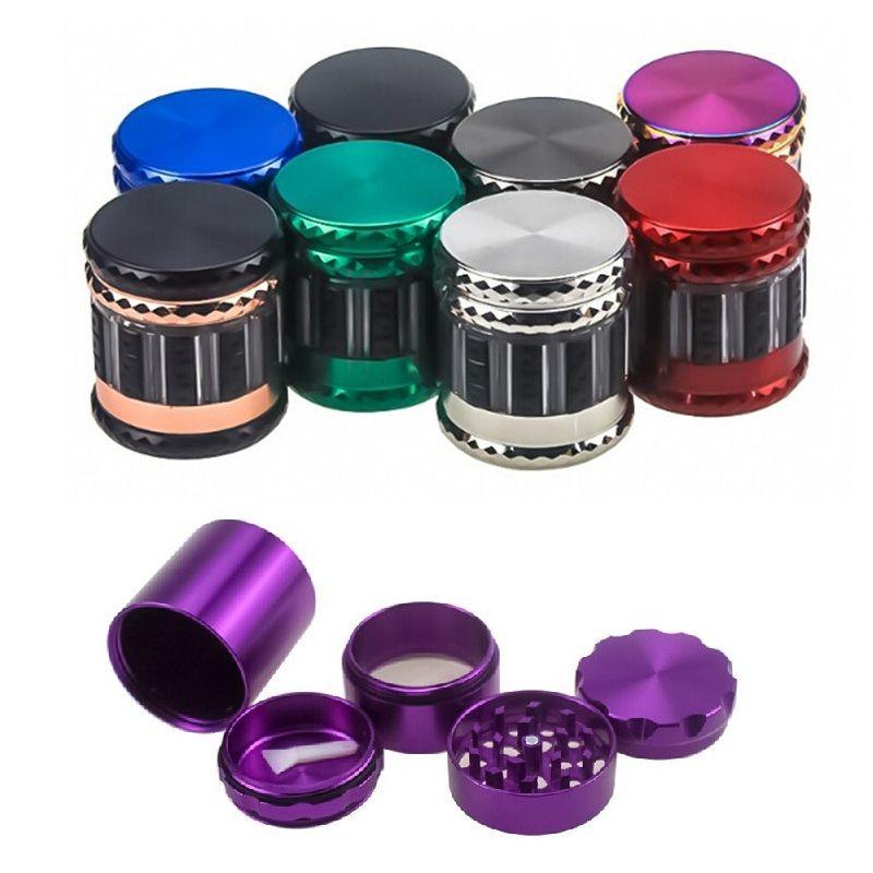 Coloré 5 pièces Grinder 63mm Diamètre main Muler sec tabac Crusher en alliage de zinc métal Grinder fumeurs Smasher DHL gratuit