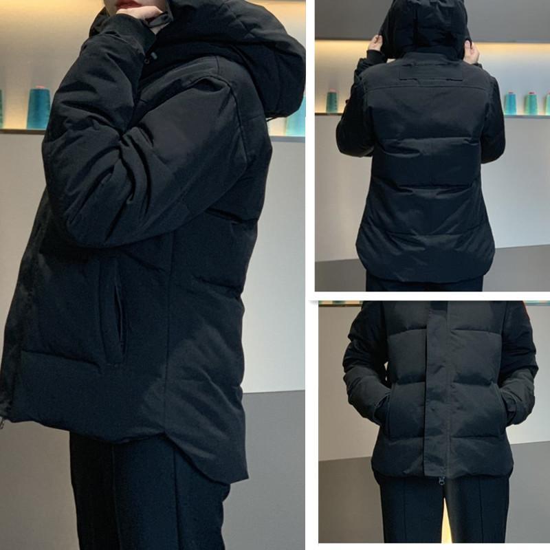 giacca invernale parke degli uomini superiori giù inverno del rivestimento del cappotto del Hoodie tick moda di lusso casuale uomo impermeabile caldo giù il cappotto