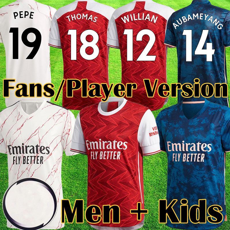 2020 2021 WILLIAN Red THOMAS Fußball Jerseys 20 21 arsen Fans Spieler Version Shirt Spitzen-Kits Camiseta de futbol maillot de foot Ausrüstung