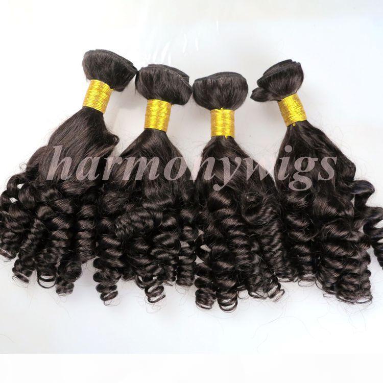 Пачки для волос девственницы Бразильские человеческие волосы Weaves Funmi Wefts 8-34 дюйма 100% необработанные перуанские индийские монгольские ткачество.