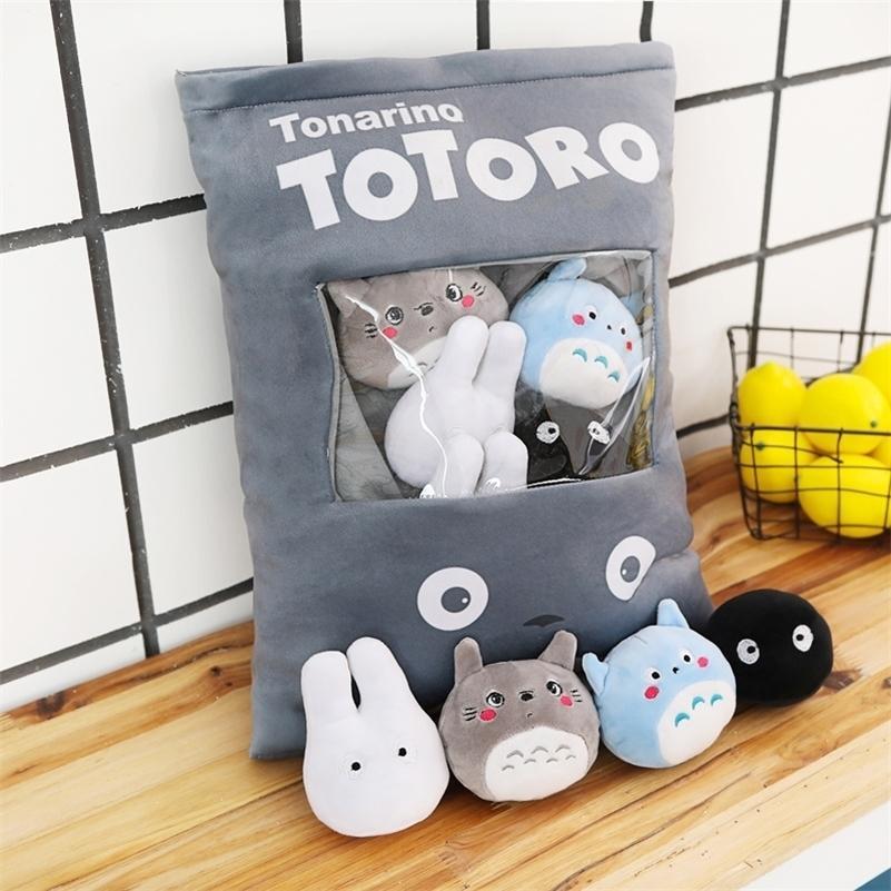 Totoro Corner Creature Un sacchetto di Snack Pillow Animal Crossing Peluche Peluche Animali Peluche Bambola creativa Juguetes Peluche Giocattolo Divano Cuscino 201021
