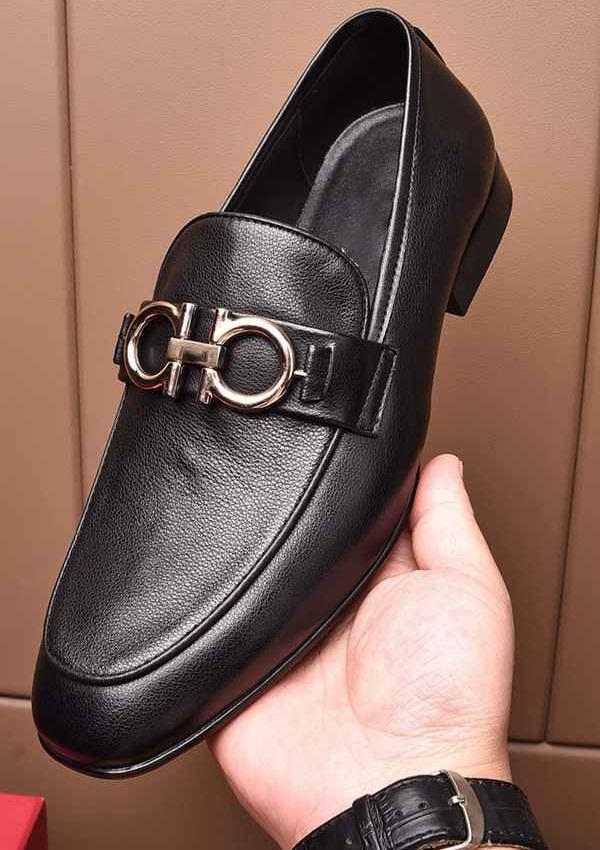 Marca degli uomini del cuoio genuino della mucca scarpa Scarpa abito formale Ufficio Affari di scarpe tacco basso dello slip-on Horsebit fannulloni nozze Oxford, 38-44