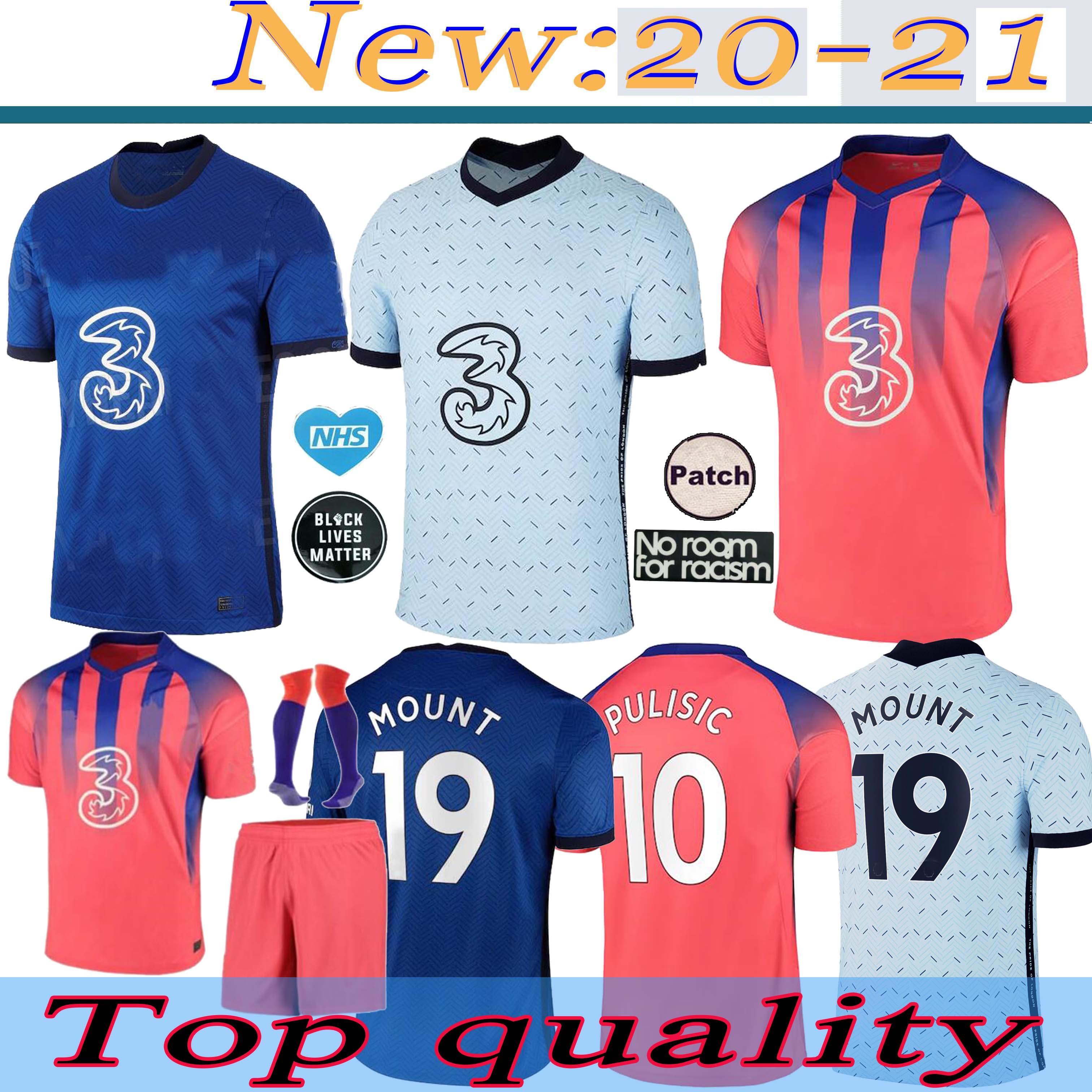 20 21 Player Version Fußball-Trikot havertz ZIYECH Fußballhemd ABRAHAM MOUNT Pulišić camiseta de fútbol 2021 KANTE LAMPARD maillot de foot