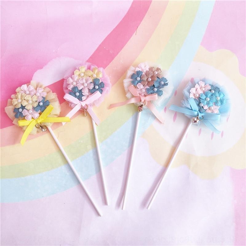 SMIT0 hornear al horno de la mariposa color decoración dulces plug-in de hilo de torta de flores plug-in de la flor de la torta del bowknot hermosa perla fWbAU