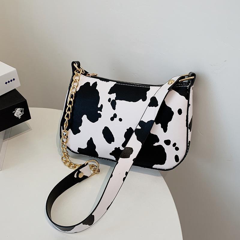 Borse ascelle modello moda piccola spalla donna catena leopardo catena leopardo retrò borsa borse borse borse PU Tote Borsa da donna in pelle femminile TNHCX