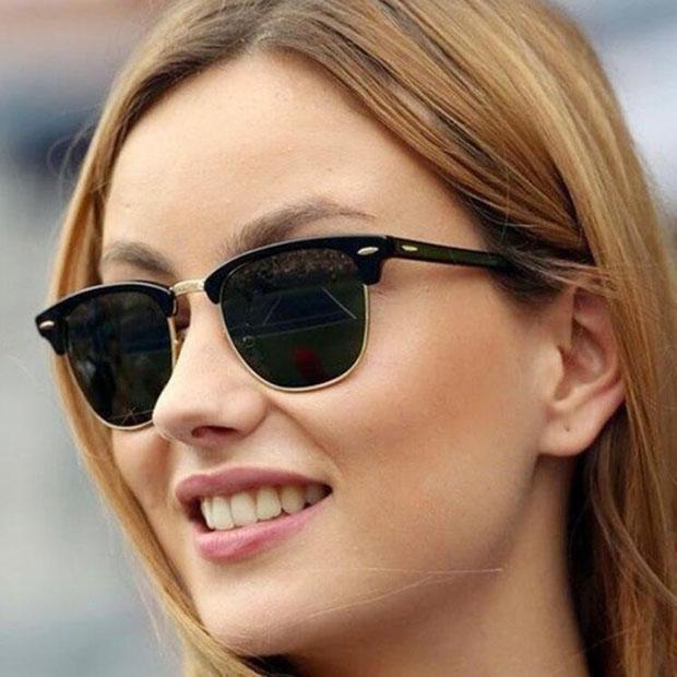 Классические мужчины Солнцезащитные очки Cat Eye Унисекс Солнцезащитные Очки Gafas De Sol Женщины Зеркальные Оттенки Случаи