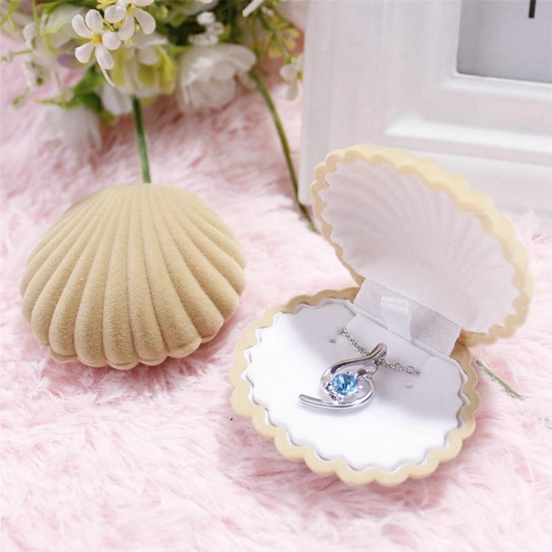Boîte à bijoux en forme de mer populaire de mer