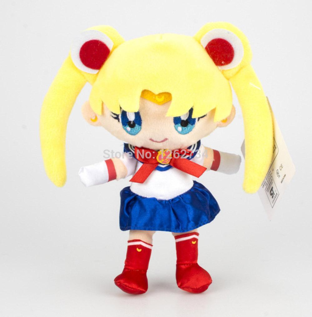 6 Styles Sailor Moon Chibiusa Princess Serenity Usagi Small Lady Chiba Mamoru 18CM Plush Doll Pendant TYNN