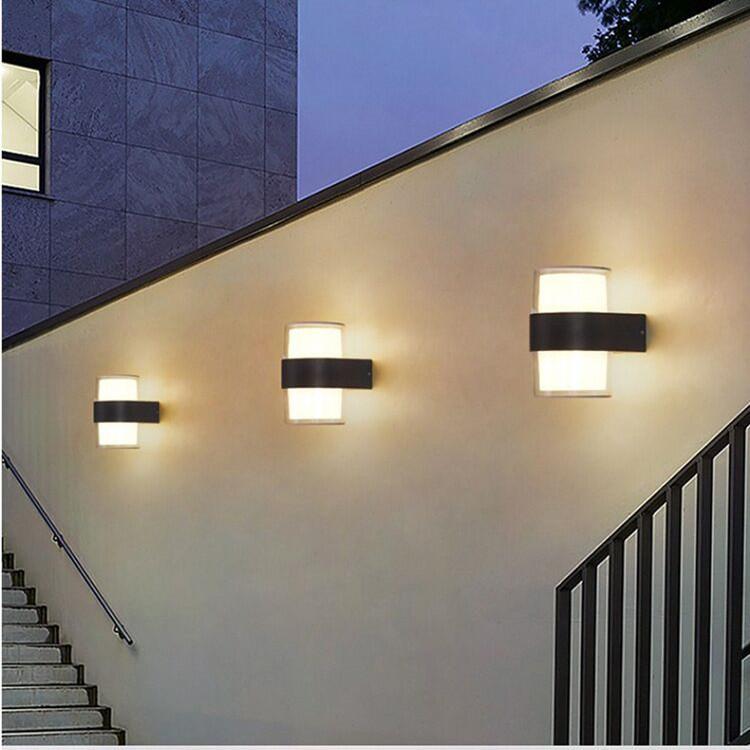 Открытый водонепроницаемый светодиодный настенный лампой Современный северный стиль в помещении крытый сад 5W 10W 110V 220V 230V лампы