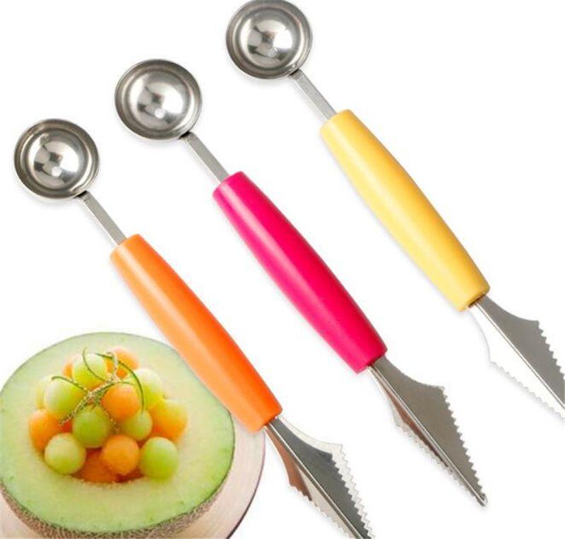 Anguria Cucchiaio Pupp Dipper frutta utensili verdure utensili in acciaio inox fruits ripple intaglio coltello gelato al gelato ai bracciagli di ballerini WQ666