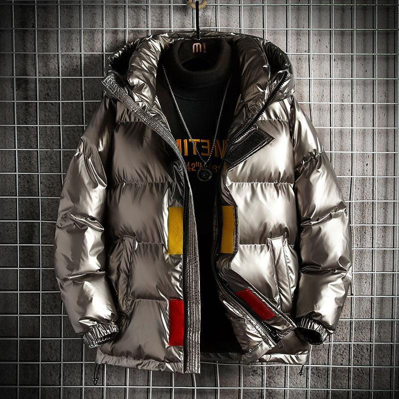 2020 inverno quente novo moda homens jaquetas jaquetas e casacos mens grosso resistente barriga moda brilhante inverno