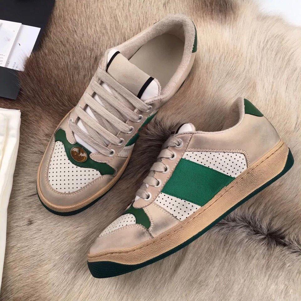 Venda Por Atacado Homens Mulheres Sujos Sapatos Moda Casual Sapato MS Couro Velet Rose Mar Vermelho azul tamanho verde 36-44