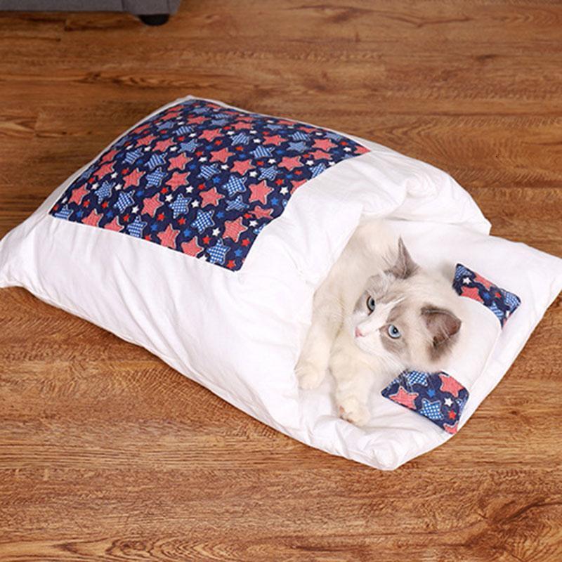 Perro mascota cama kennel gato invierno cálido perro bolsa dormir largo peluche super suave mascota cama cachorro cojín estera gato suministros