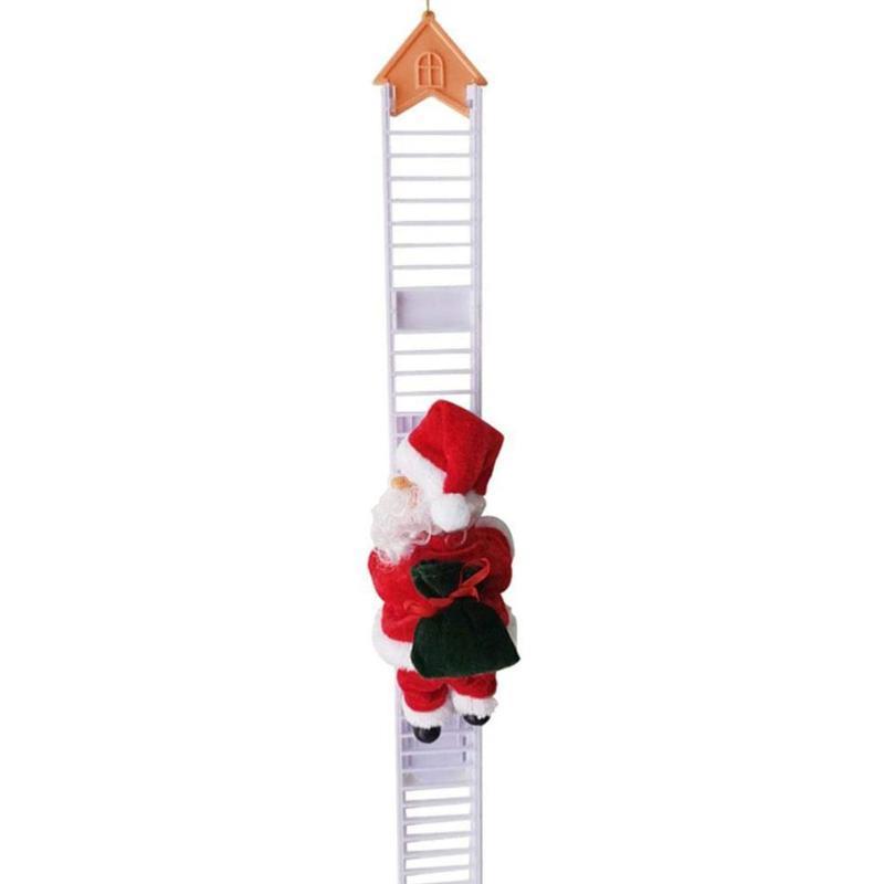 Weihnachten elektrischer Leiter Weihnachtsmann-Party-Verzierung Geschenk-Beutel Zufall Interessantes Haus White Einzel Ladder