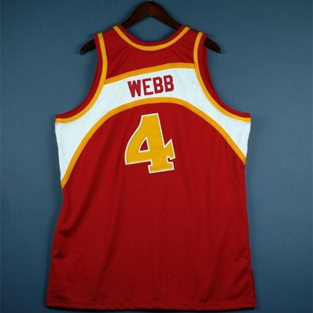 Benutzerdefinierte 604 Jugendfrauen Vintage Mitchell Ness Spud Webb 86 87 College Basketball Jersey Größe S-4XL oder Benutzerdefinierte Name oder Anzahl Jersey