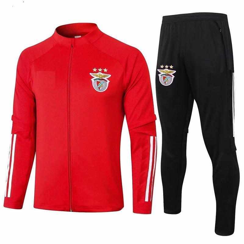 Nuevo 2020 2021 Kit para adultos Mangas largas Benfica Chaqueta Uniformes Trajes de fútbol Jersey 20 21 Tren Fútbol Abrigo Entrenamiento Traje