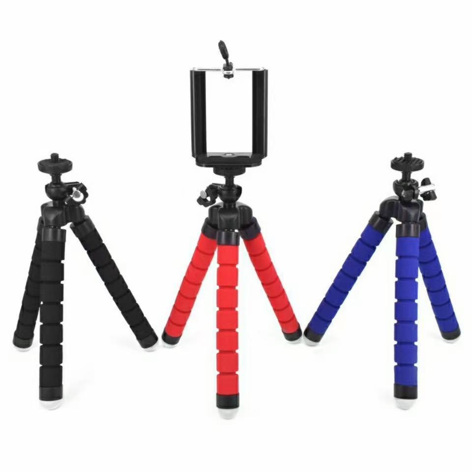 휴대 전화 자동차 카메라 범용 미니 문어 스폰지위한 유연한 삼각대 홀더 셀카 모노 포드 마운트 클립 스탠드