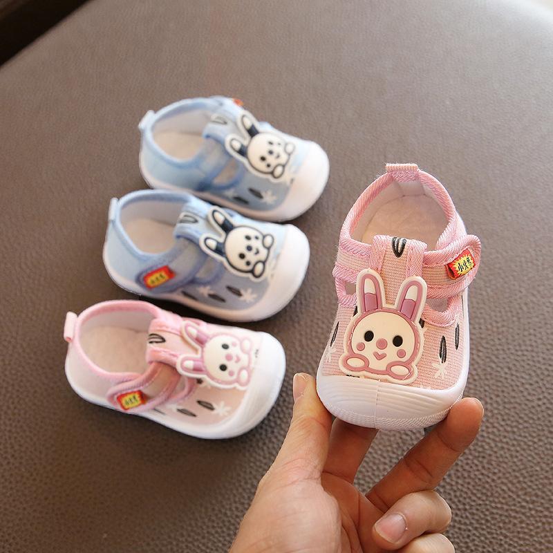 Baby boy casual scarpe blu rosa carino coniglio modello neonato infantile bambina scarpe da bambina mocassini squeaky scarpe D02082 201026
