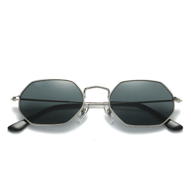 Reflektierende Frauen Reflektierende Qualität Designer Hohe Retro Metall Polygonale Glas Gläser Sonnenbrille Bunte Sonnenbrille Männer Ougfh