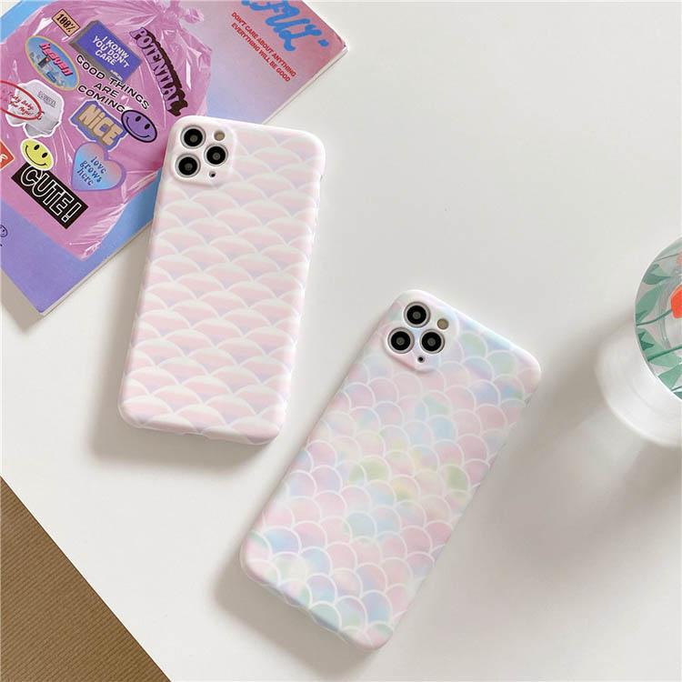 Casi del telefono della scala di pesci Cool Colorful Soft TPU Cover posteriore del PC Cassa del telefono cellulare anti-caduta per iPhone 12 11 Pro max