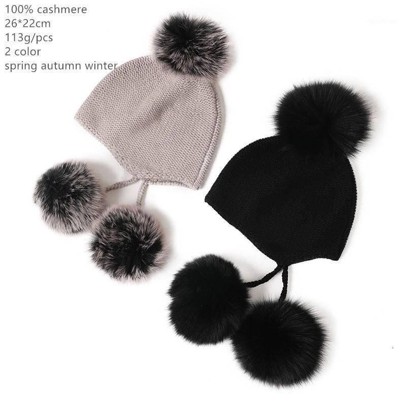 Naizaiga 100% cashmere dome carino palla a sfera di pelliccia caldo e morbido palla di pelliccia rimovibile cappello femminile, SN7501