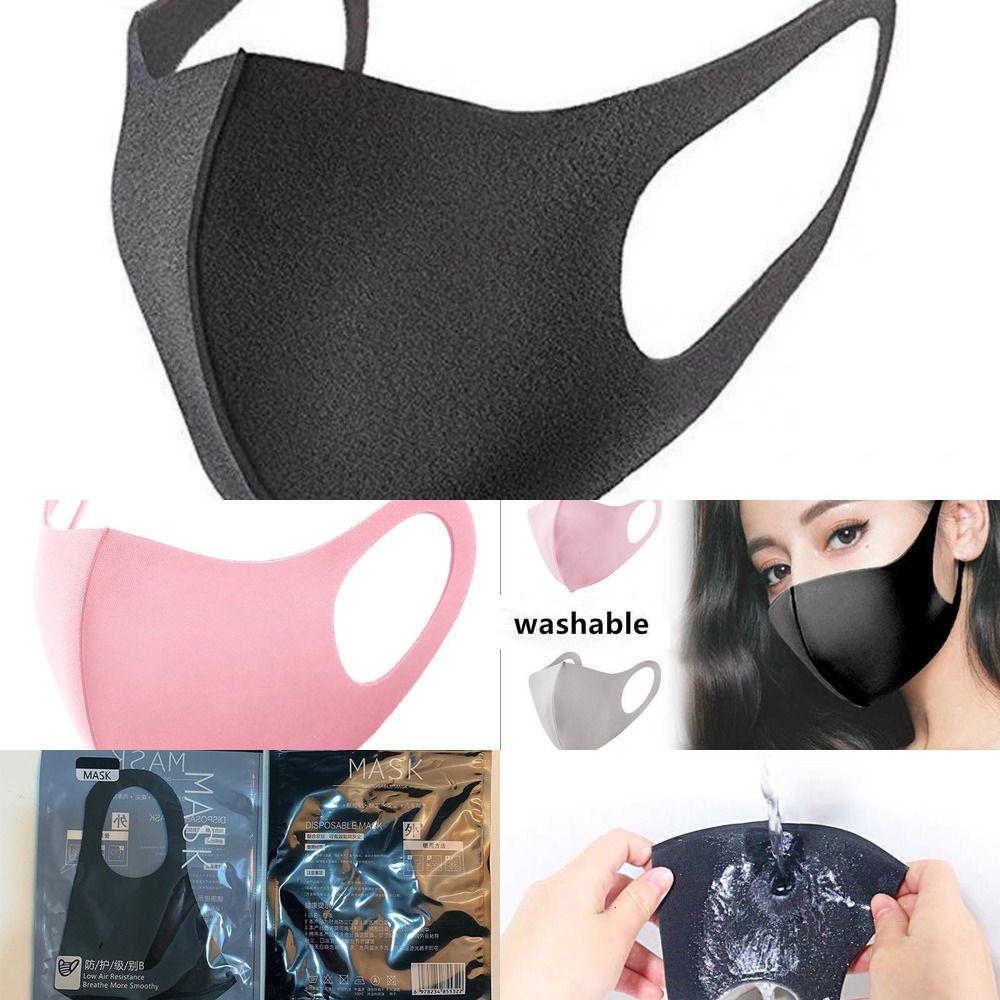 Face Washable Designer Protective Face Dust Masks Black Anti Reusable Kids Masks Adult Cloth Cotton Children Fashion Mouth MW1